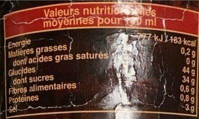 Exotic Food Süß saure Sauce - Nutrition facts - fr