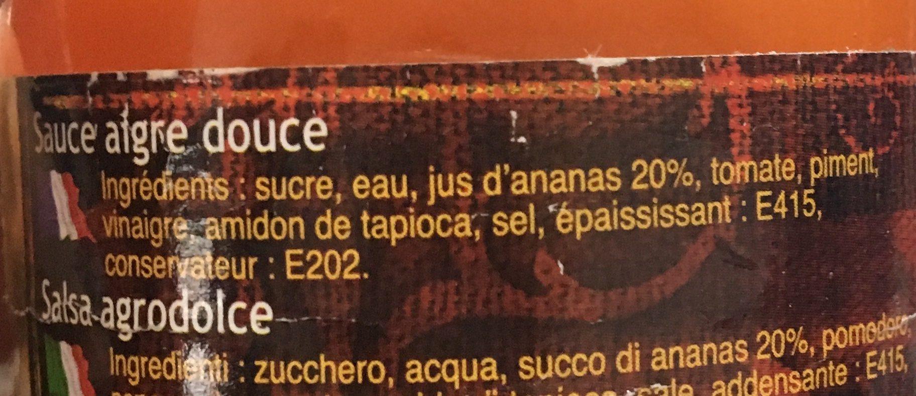Sauce Aigre Douce - Ingrédients - fr