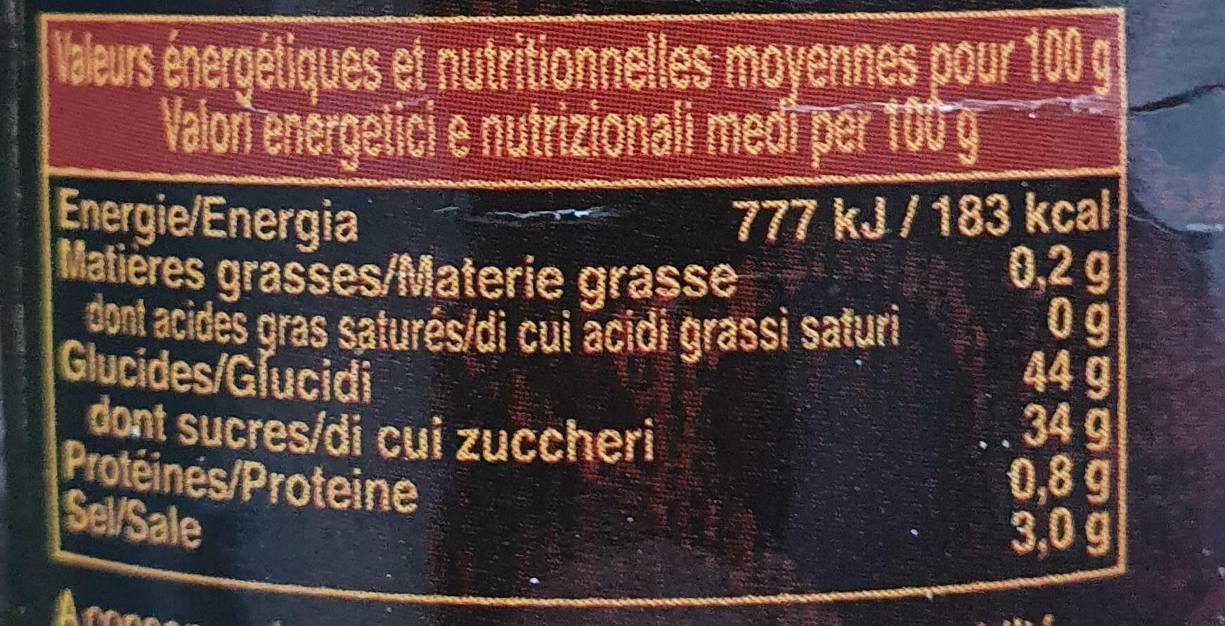 Sauce Aigre Douce - Informations nutritionnelles - fr