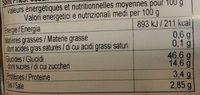 Nouilles Pad Thaï - Informations nutritionnelles - fr