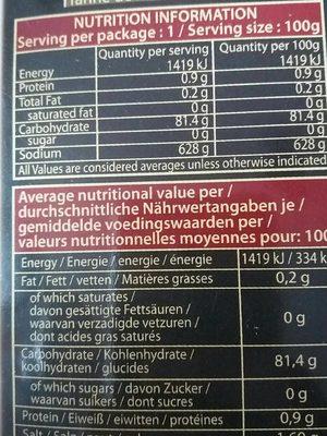 Rice paper - Informations nutritionnelles - fr