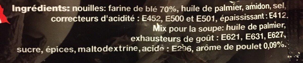 Nouilles Instantanées Saveur Poulet - Ingrédients - fr