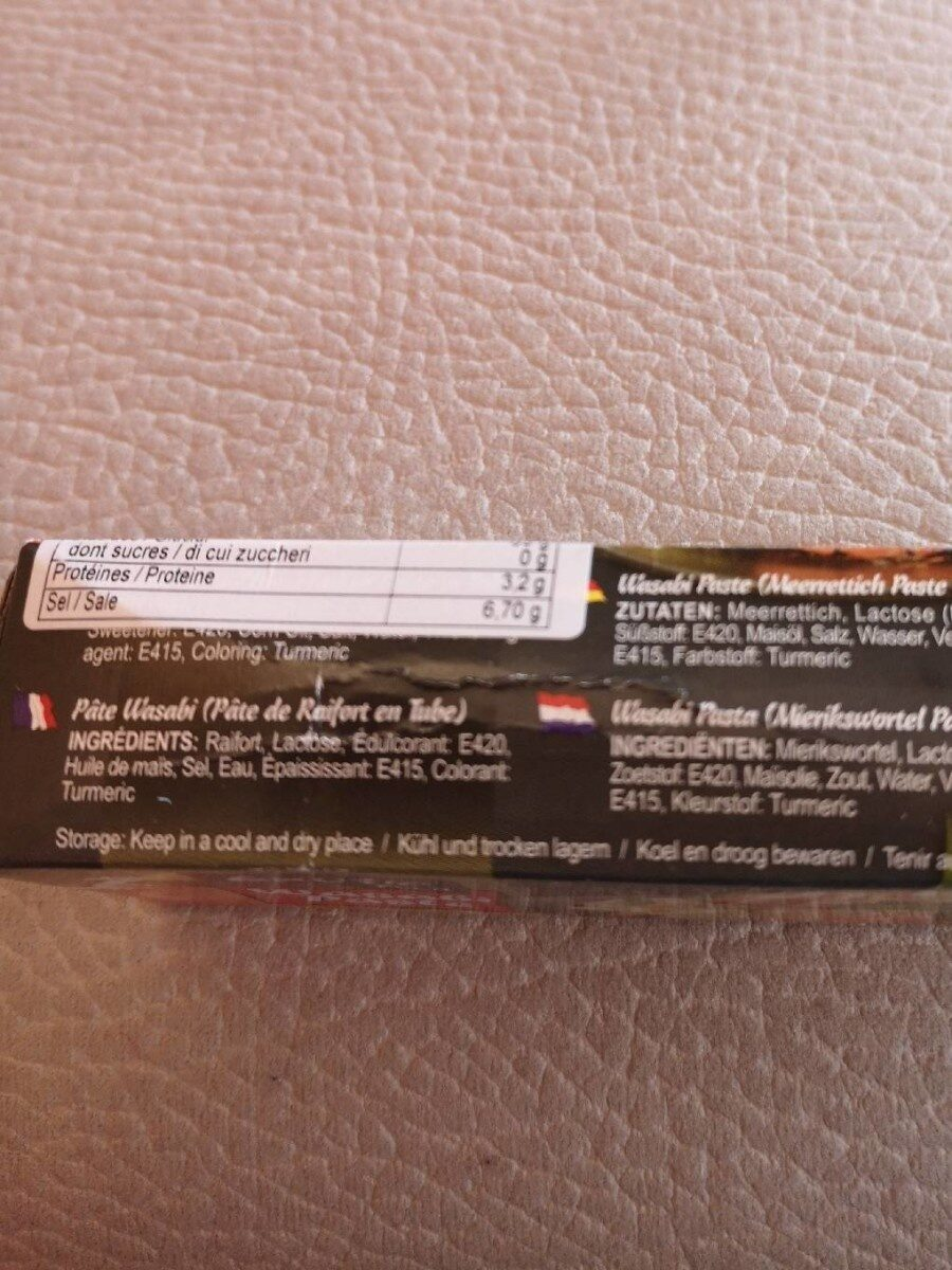 Tube Wasabi 43GR Exotic Food - Informations nutritionnelles - fr
