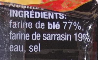 Nouilles Soba - Ingrédients - fr