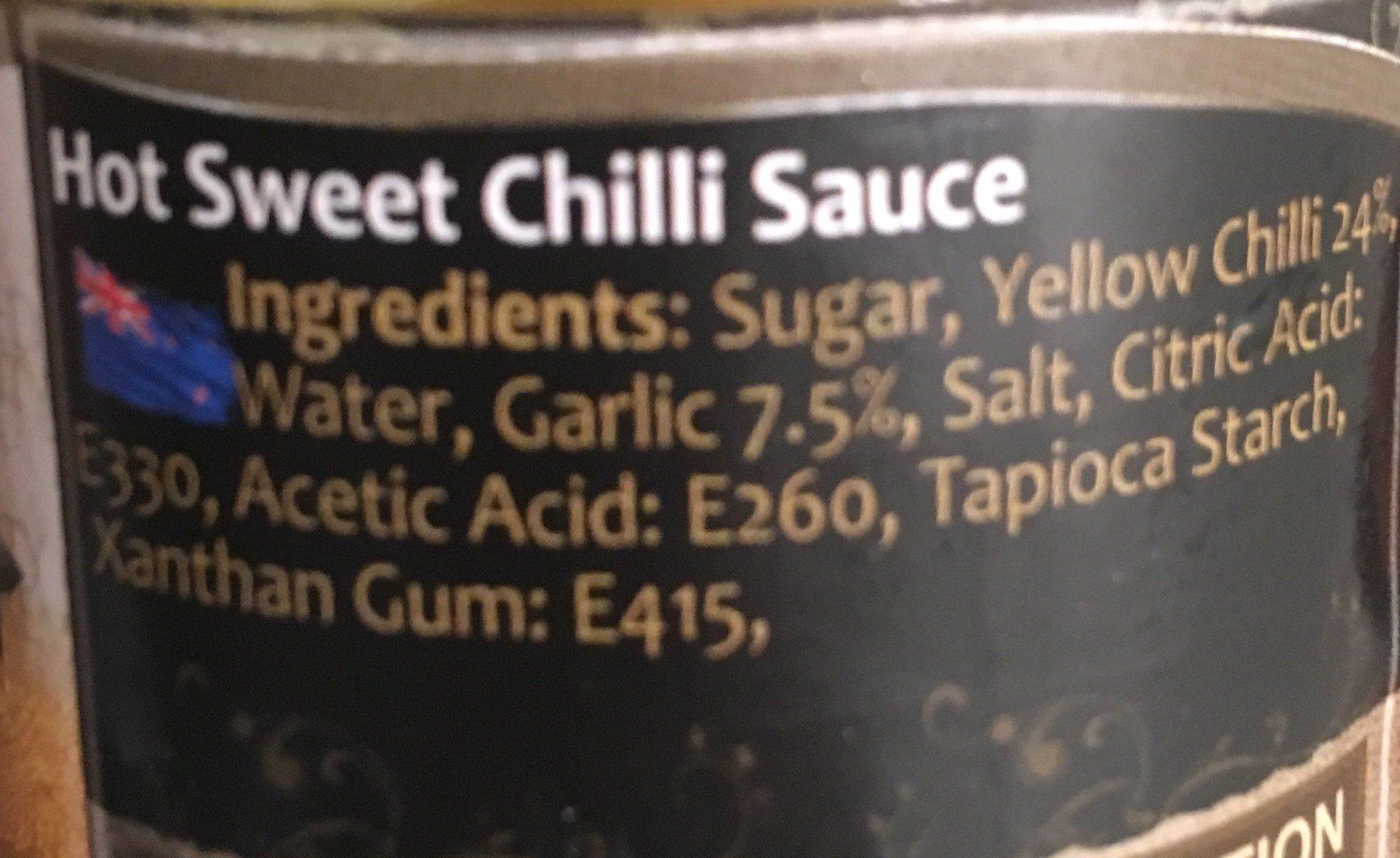 Hot Sweet Chili Sauce - Ingrédients - fr