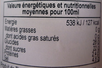 Sauce pimentée à l'ail - Nutrition facts - fr