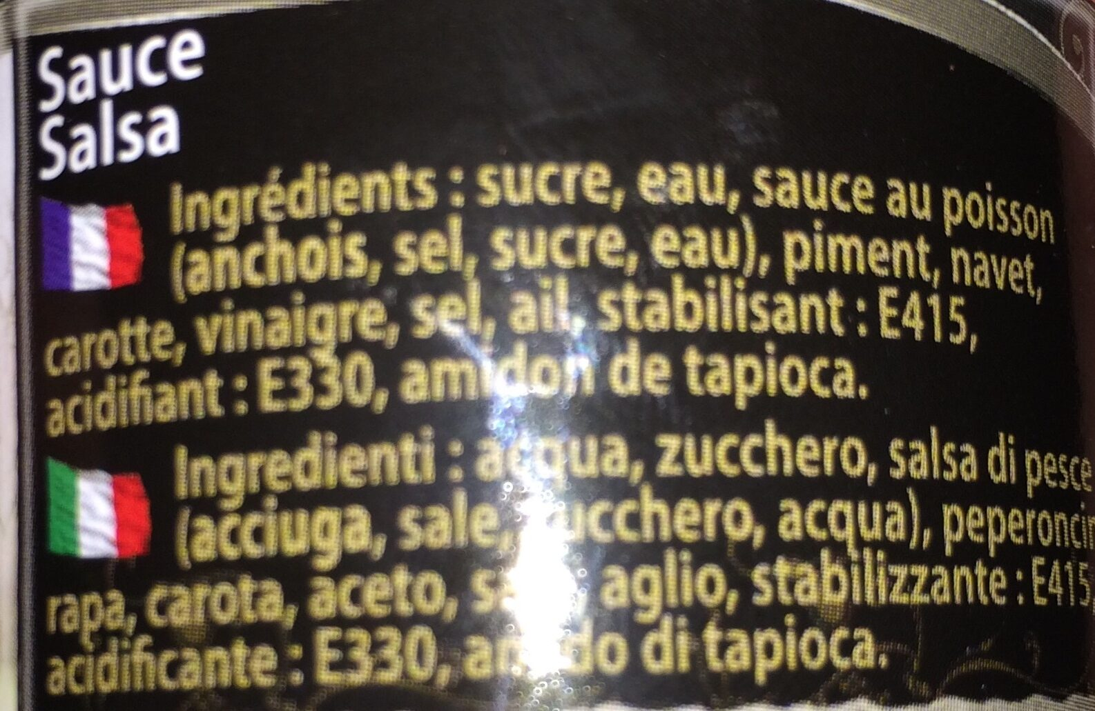 Sauce Pour Nems - Ingredients - fr