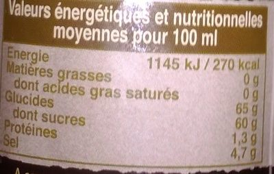 Sauce Pour Nems - Nutrition facts - fr