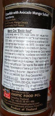 Mango Sauce - Ingrédients - fr