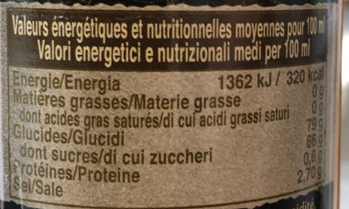 Sauce Mangue Ananas - Nutrition facts - fr