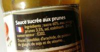 Sauce aux prunes - Ingrédients - fr
