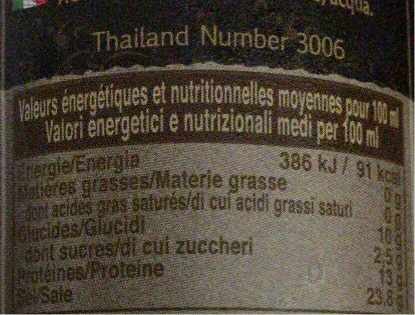 Nuöc mam sauce - Informations nutritionnelles - fr