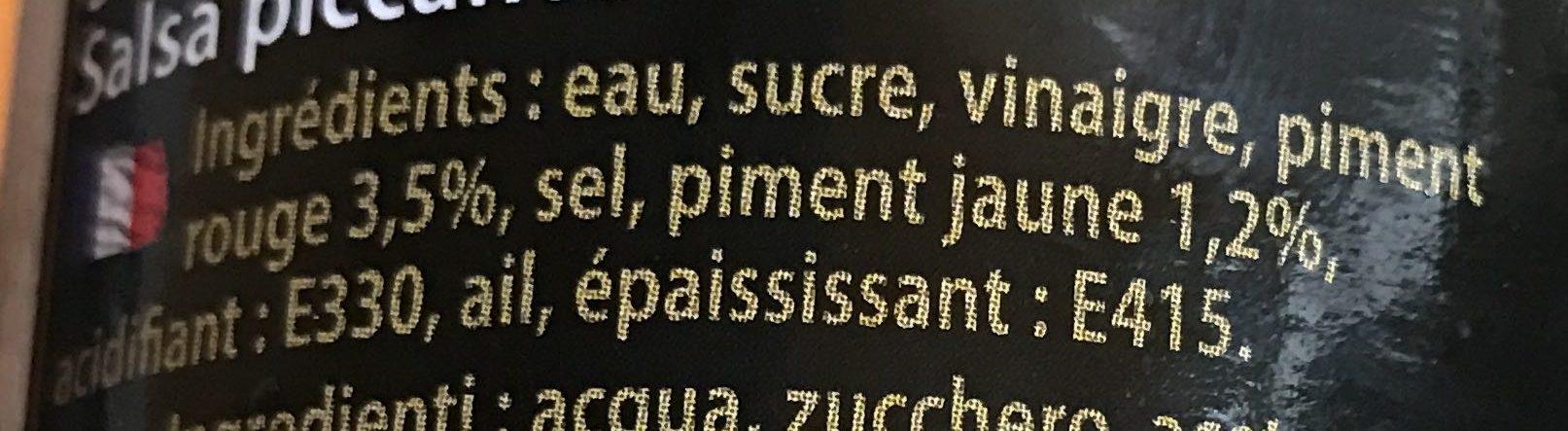 Sauce Pimentee Pour Salade - Ingredients - fr
