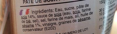 Exotic Food - Woksauce Sesam soy - Ingrédients - fr