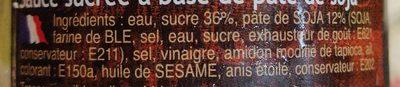 Sauce Hoisin - Ingrédients - fr