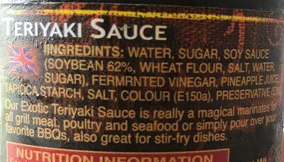 Exotic, Teriyaki Sauce - Ingrédients - fr