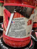 Purée de piment - Ingrédients - fr