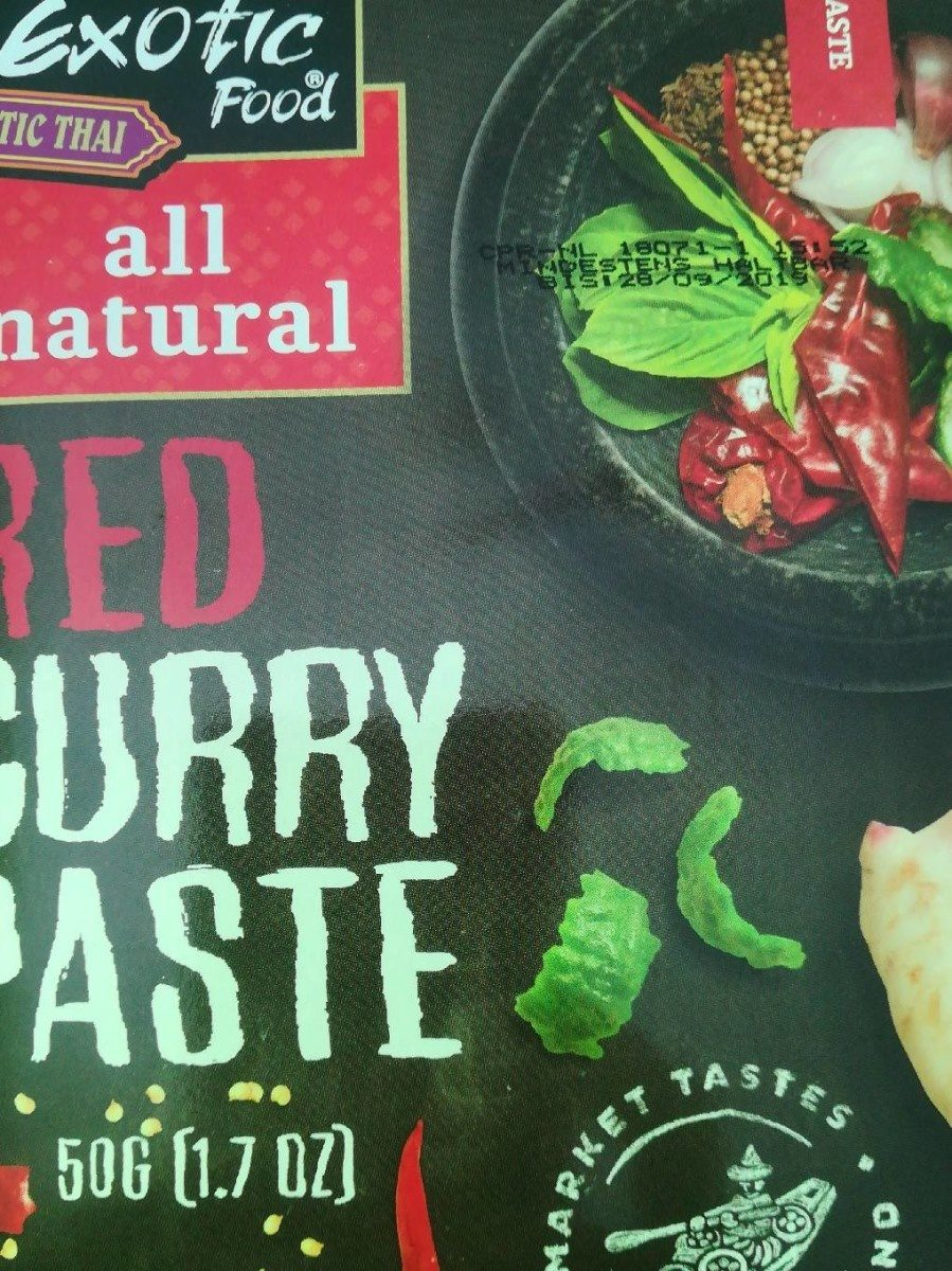 Red curry paste (pâte de curry rouge) - Produit - fr
