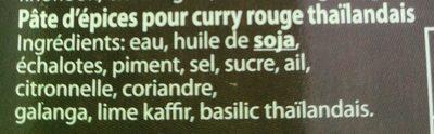 Red curry paste (pâte de curry rouge) - Ingrédients