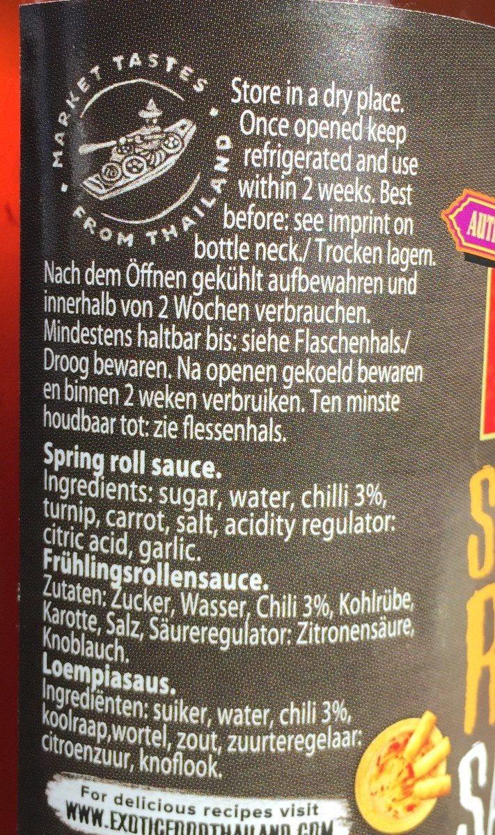 Spring Roll Sauce - Ingrédients - fr