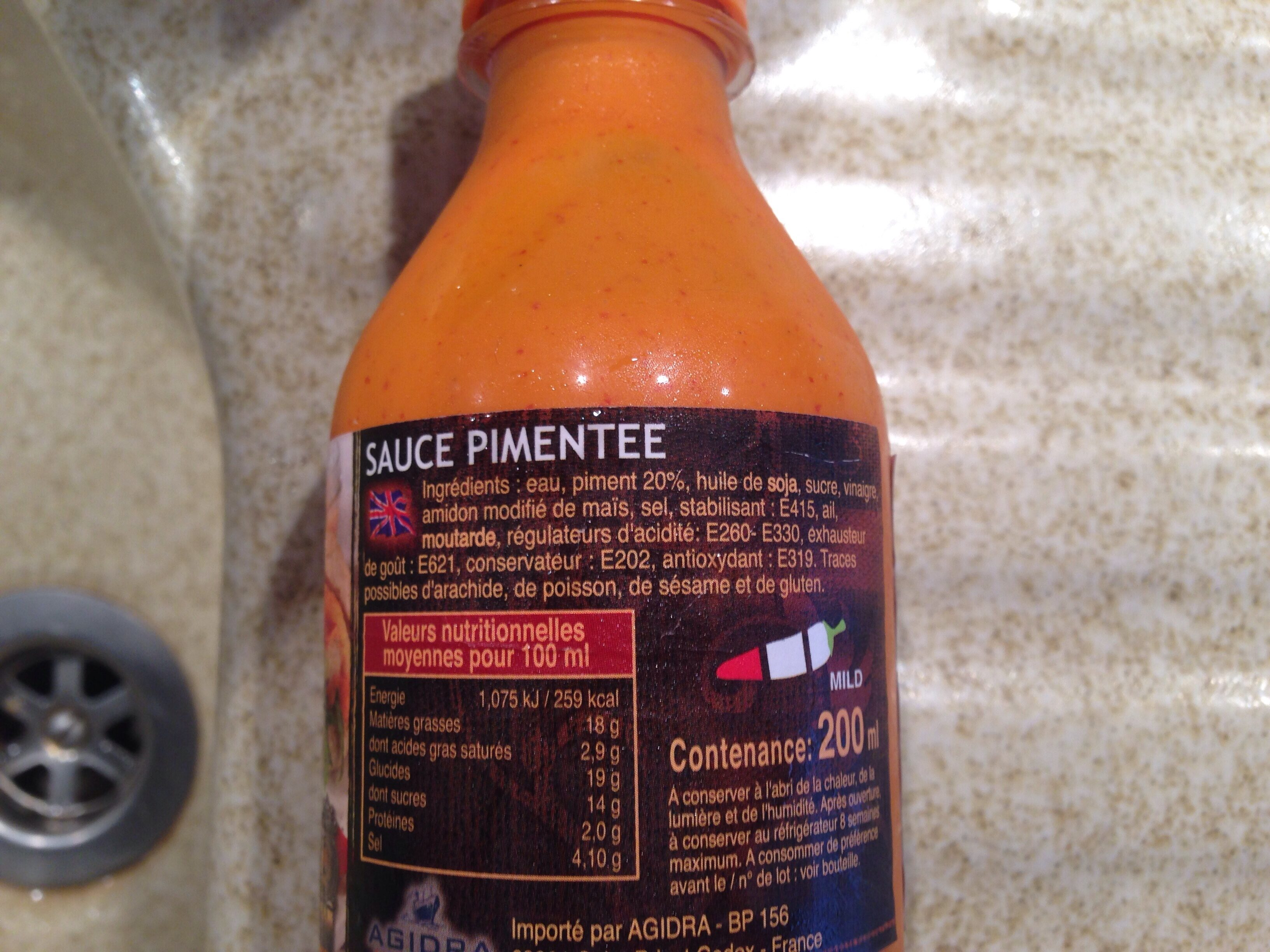 Sriacha mayo sauce - Ingredients - fr