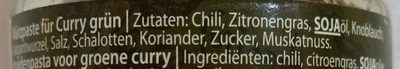 Green Curry Paste - Ingrediënten - de