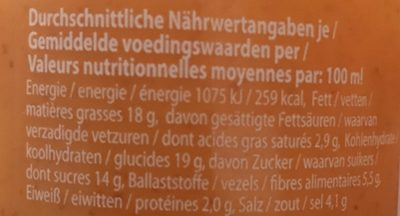 Sriracha Mayo Sauce - Informations nutritionnelles - fr