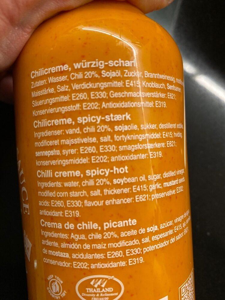 Srircha Mayoo Sauce - Ingredients - de