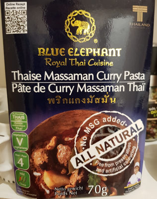 Royal Thai Cuisine Pâte de Curry Massaman Thaï - Produkt