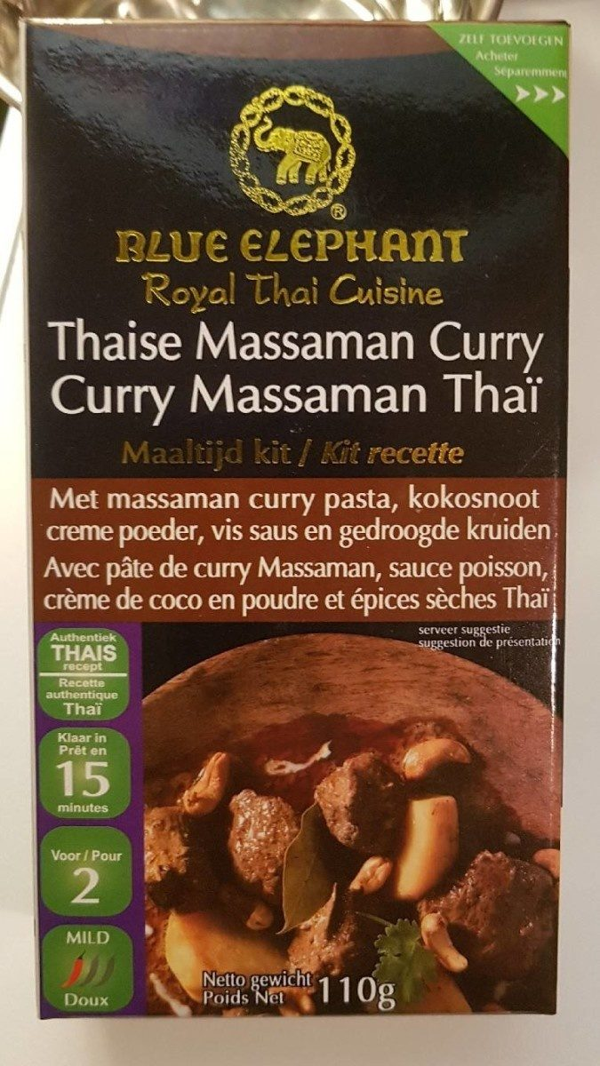 Curry massaman  thaï - Product - fr