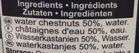 Water Chestnut - Ingredients - fr