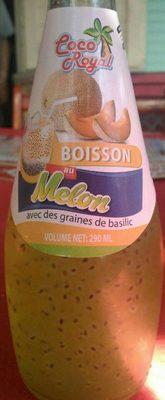Boisson au melon avec des graines de basilic - Produit - fr