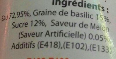 Boisson au melon avec des graines de basilic - Ingrédients - fr