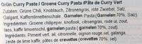 Pate De Curry Vert Nittaya - Ingredients