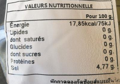 Pousses de moutarde au vinaigre - Informations nutritionnelles - fr