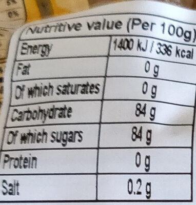 Palm sugar - Nutrition facts - en
