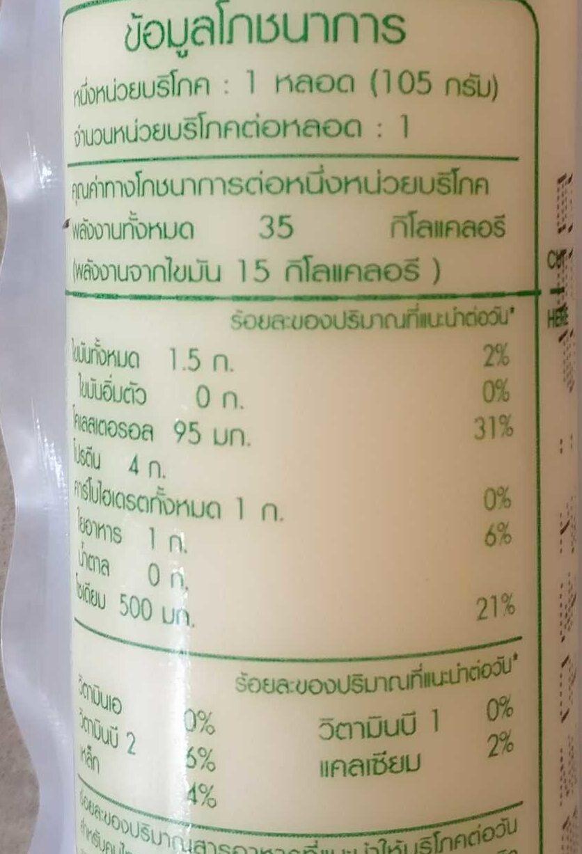 เต้าหู้ไข่ไก่ - Informations nutritionnelles