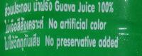 น้ำฝรั่งเขียว - Ingrediënten - th