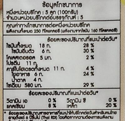 เต้าหู้ปลาไส้ชีส - Valori nutrizionali - th
