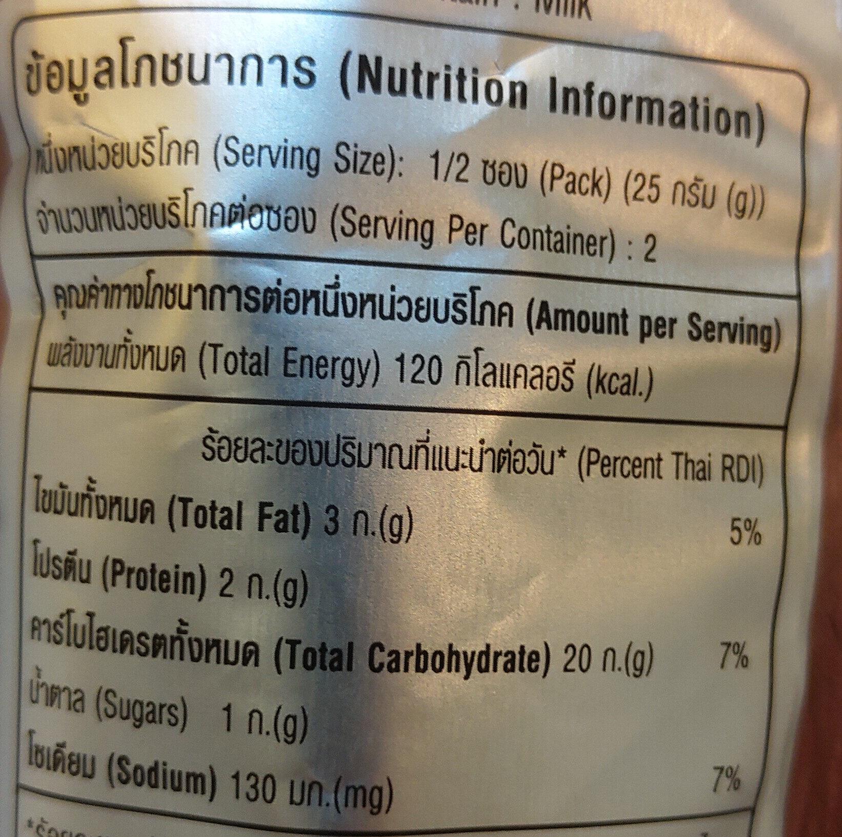 ไรซ์ บัดดี้ กลิ่นเทอริยากิ - Informations nutritionnelles - th