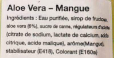 Vera Drink Mango FLVR 500ML - Ingredients