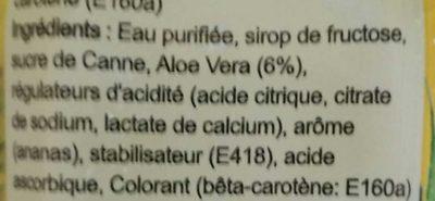 Boisson à l'Aloe Vera saveur Ananas - Ingrédients