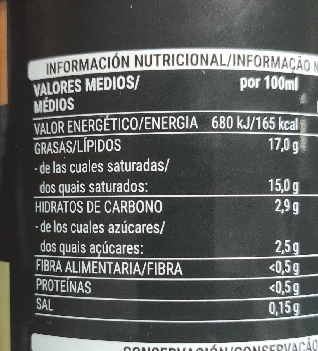 Leche de coco - Informations nutritionnelles - es
