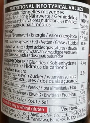 Sauce De Soja - Nutrition facts - en