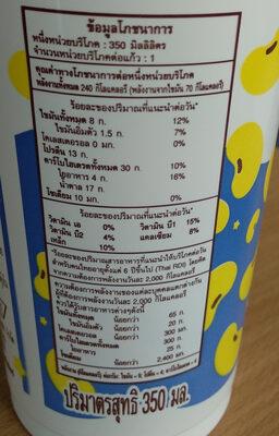 นมถั่วเหลือง เอ็นโซย่า - Informations nutritionnelles