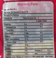 ไชโป้วหวาน ชนิดเส้น - Informations nutritionnelles - th