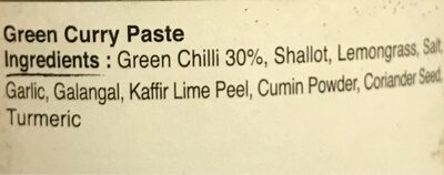 Green Curry Paste - Ingrédients