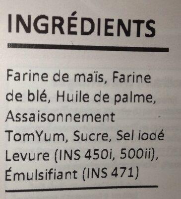 Corn Snacks - Inhaltsstoffe - fr