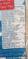 Riz blanc Thai indice glycemique bas - Voedingswaarden - fr
