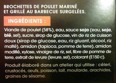 Yakitori Brochettes Poulet - Ingrédients